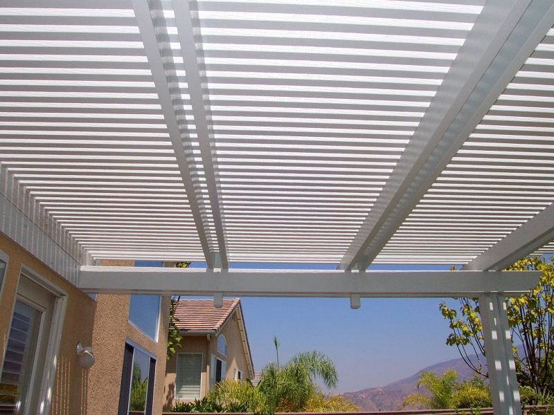 Underside of an Open Lattice Patio Cover in Ladera Ranch, CA