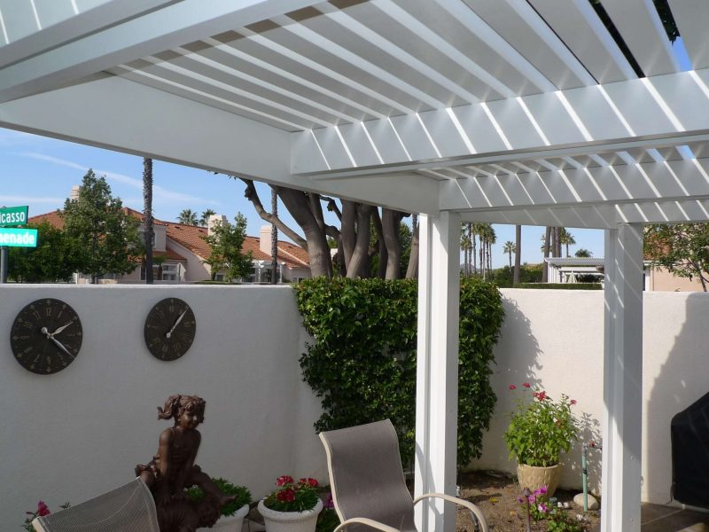 Underside of an Open Lattice Patio Cover in Orange, CA
