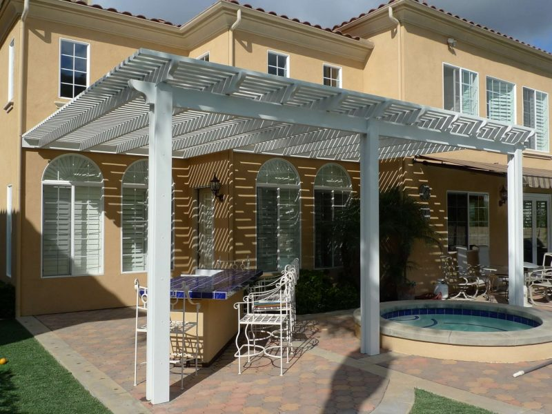 Exterior of an Open Lattice Patio Cover in Rancho Santa Margarita, CA