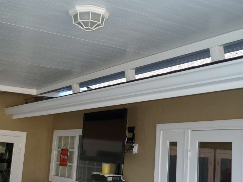 Detail of a Roof Mount Attachment on a Solid Insulated Patio Cover in Mission Viejo, CA