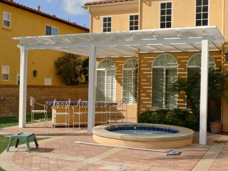 Exterior of an Open Lattice Patio Cover in San Juan Capistrano, CA